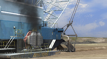 Dragline-Simulator-Emergency-Situation
