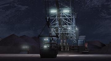 Dragline-simulator-night