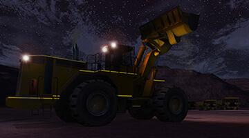 Wheel-Loader-Simulator-Night